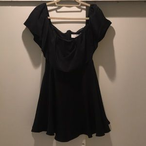 Black dress - off shoulder